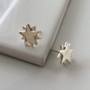 Starbright Stud Earrings in Sterling Silver