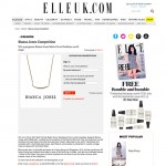 Elle Uk Forever Strong Curve Necklace