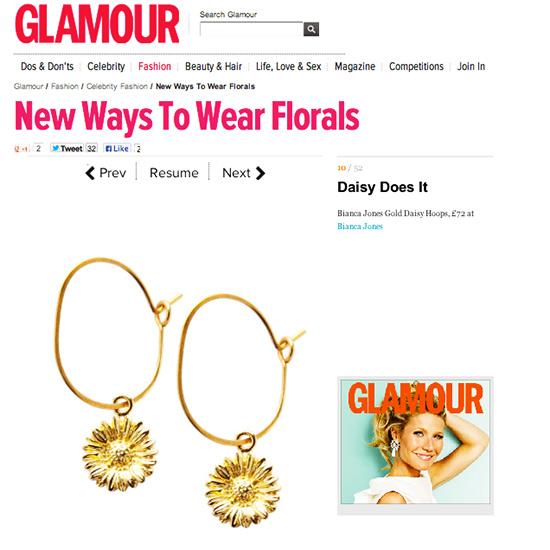 Glamour Daisy Hoops