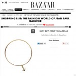 Harpers Bazaar Gold Anchor Bangle