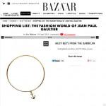 Harpers Bazaar Gold Anchor Bangle