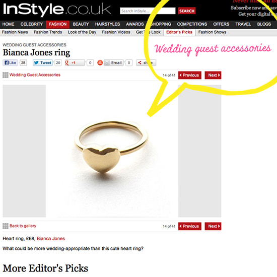 Instyle Gold Heart Ring