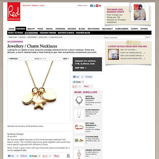 Alphabet Charm Necklace
