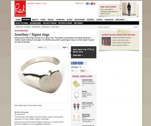 Red Heart Signet Ring