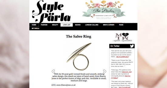 Sabre Ring Style Parla