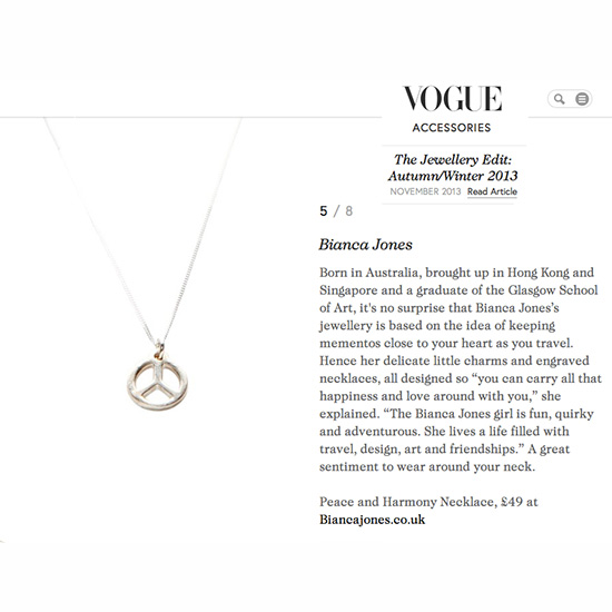 Vogue Peace Necklace