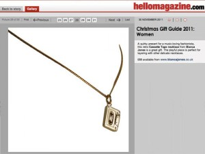 Hello Cassette Tape Necklace