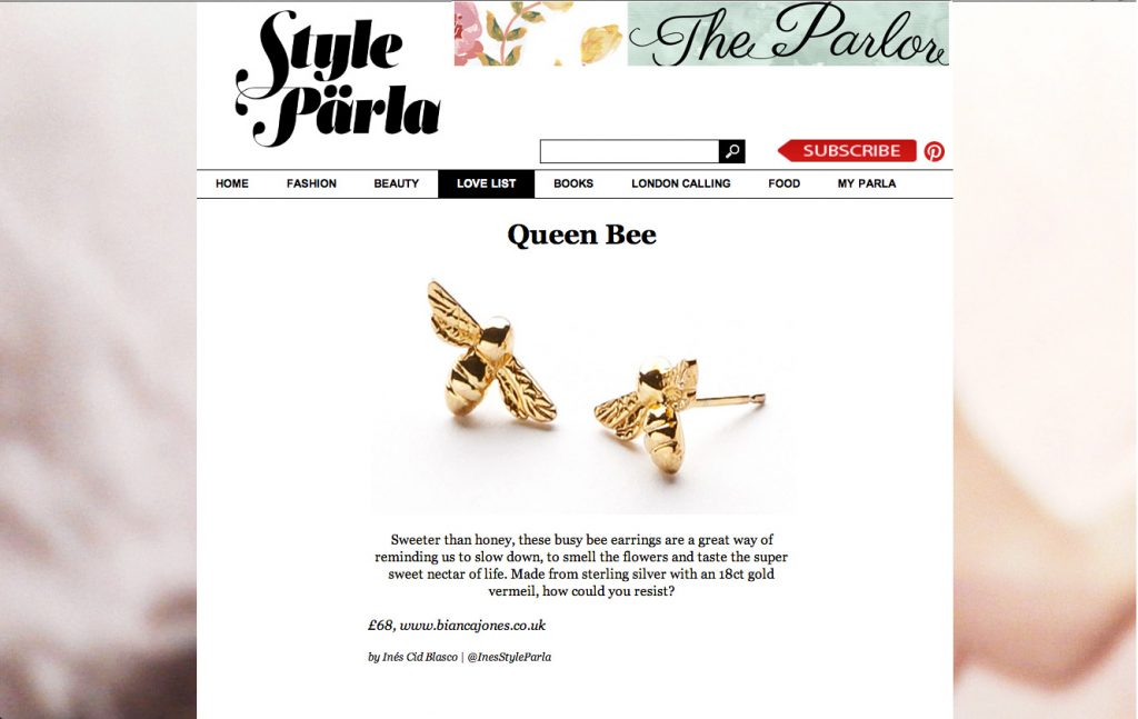 Style Parla Bumble Bee Earrings