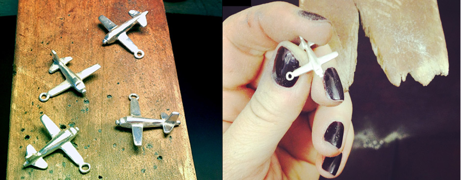 Aeroplane making in Silver or Gold