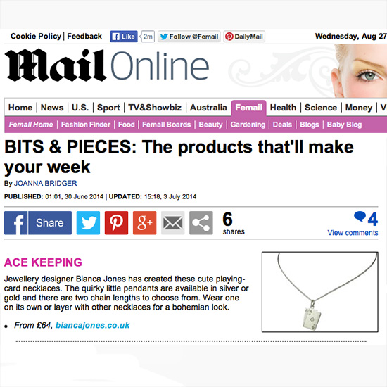 Ace of Hearts Daily Mail