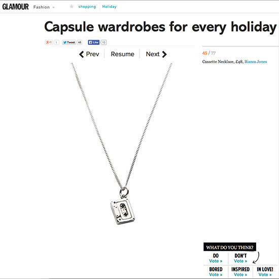 Cassette Tape Necklace Glamour