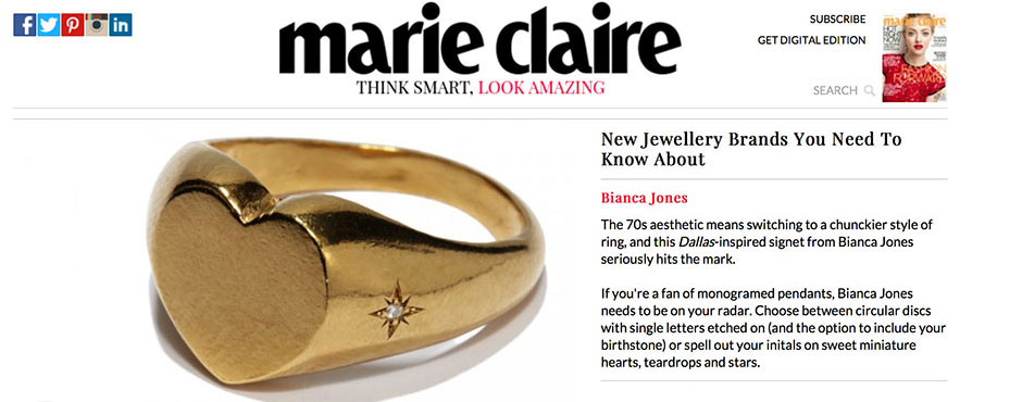 Marie Claire jewellery brands you should know