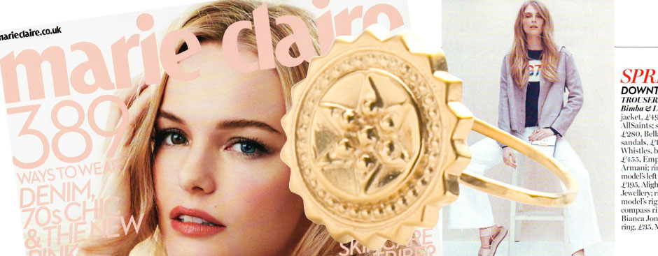 Marie Claire features Compass Ring