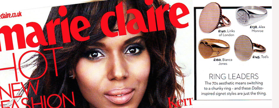 Oval Diamond Signet Ring featured in Marie Claire