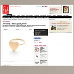 Red Magazine Gold Heart Ring