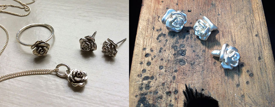 Roses in Silver or Gold