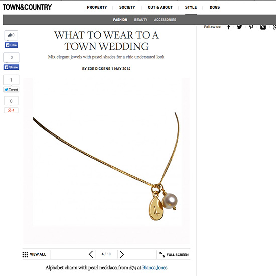 Gold Initial Necklace Town & Country