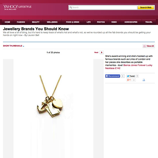 Yahoo Forever Lucky Necklace
