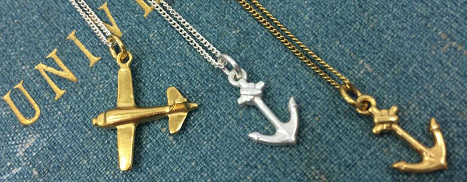 Bianca Jones Jewellery Anchors and Aeroplane