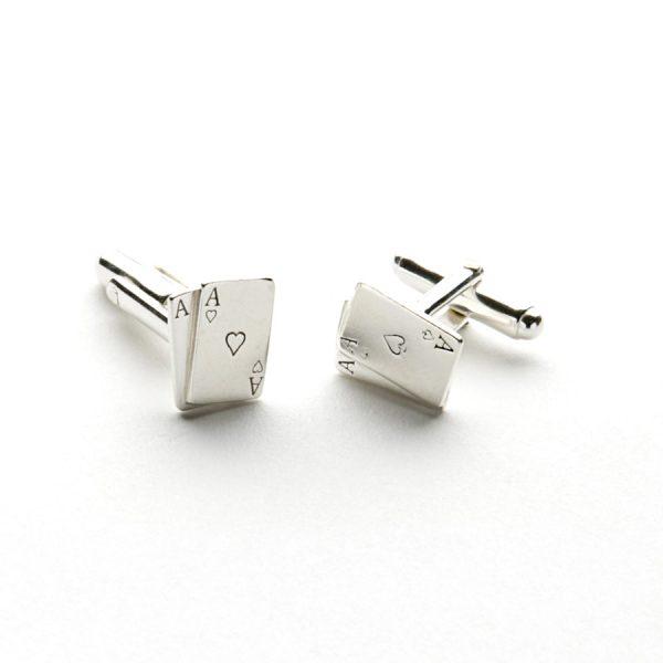 Aces Cufflinks Silver