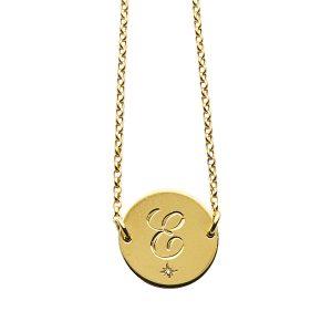 Diamond Initial Bracelet in Gold