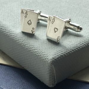 Sterling Silver Ace Cufflinks