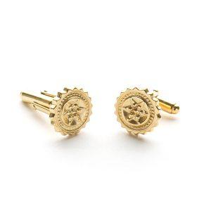 Compass Cufflinks in Gold Vermeil