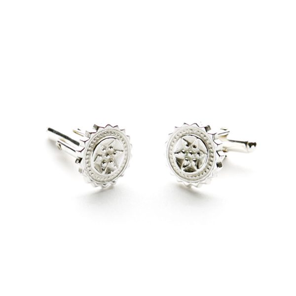 Compass Cufflinks in Sterling Silver
