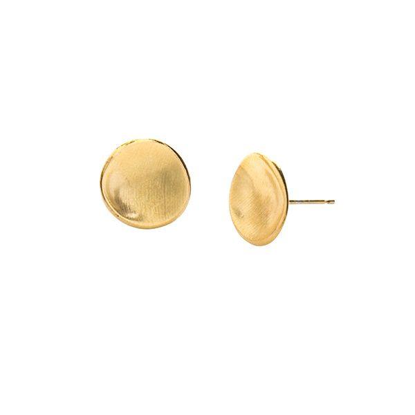 Gold Cosmos Stud Earrings
