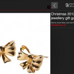 Hello Bow Gold Studs
