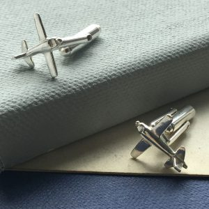 Sterling Silver Airplane Cufflinks