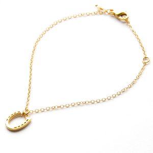 Horseshoe Bracelet in Gold