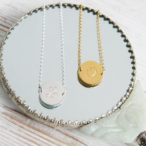 Initial Bracelet in Sterling Silver and Gold