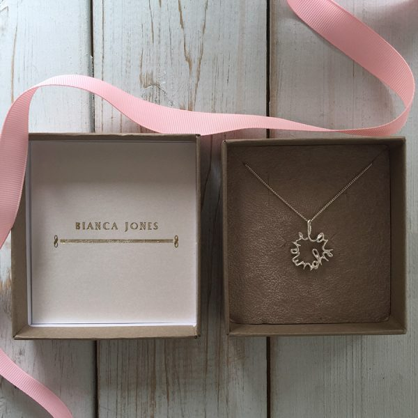 Large 'Love You More' Necklace with packaging