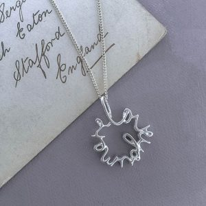 Love You More Necklace in Sterling Silver by Bianca Jones Jewellery