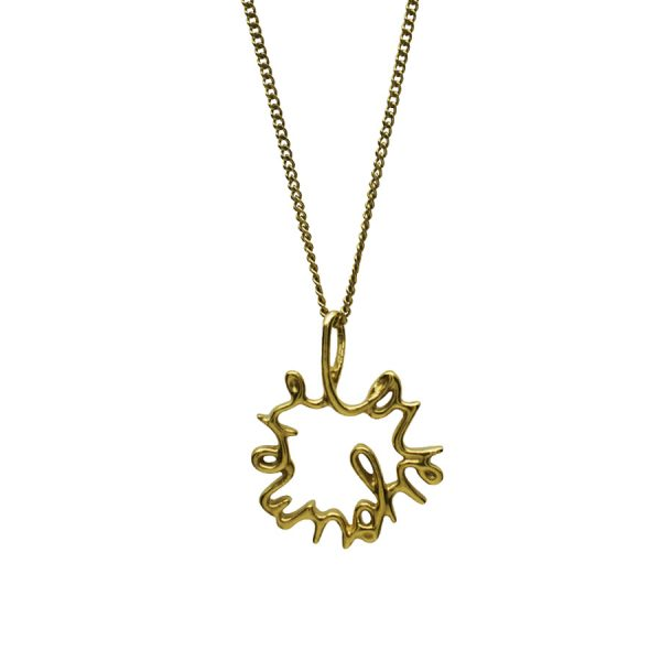 'Love You More' Large Necklace in Gold