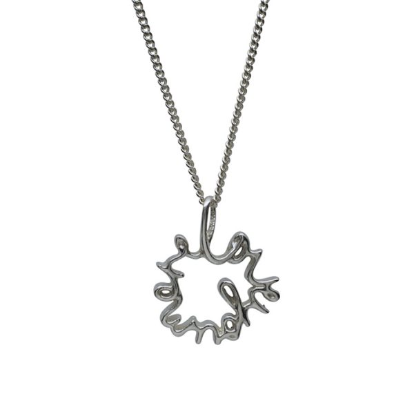 Large 'Love You More' Necklace in Sterling Silver