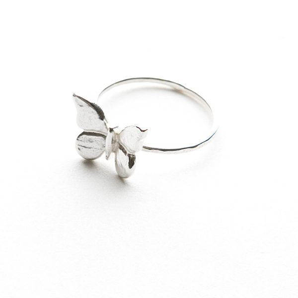 Baby Butterfly Ring in Sterling Silver