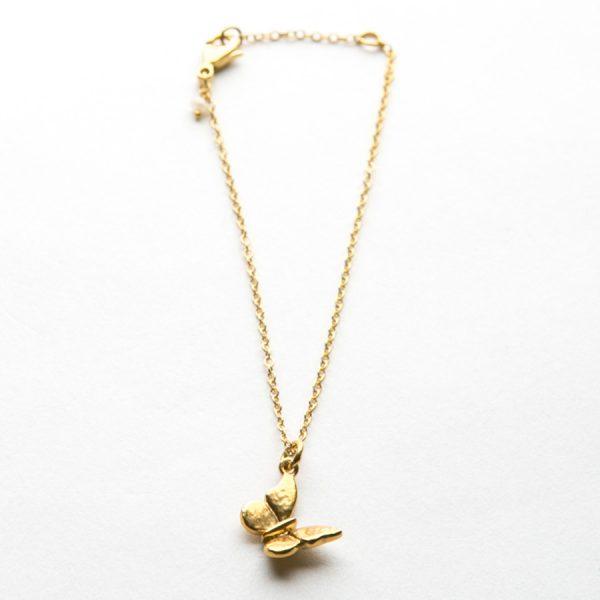 Baby Butterfly bracelet in Gold Vermeil