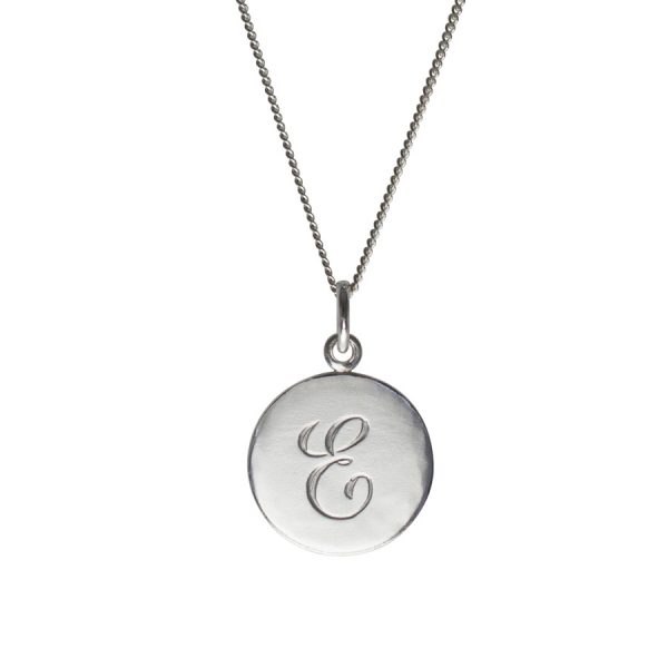 Initial Necklace E in Sterling Silver