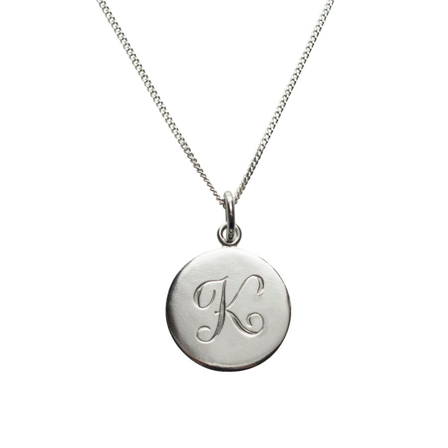 Initial necklace in sterling silver bianca jones british jewellery initial necklace k in sterling silver aloadofball Choice Image