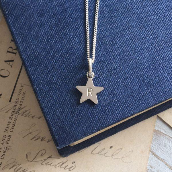 Letter Star Necklace
