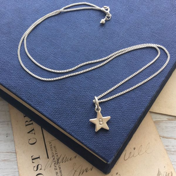 Letter Star Necklace in Sterling Silver