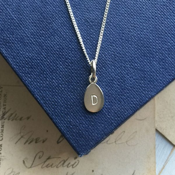 Letter Teardrop Necklace