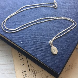 Letter Teardrop Necklace
