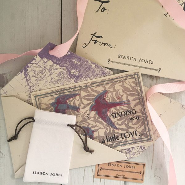 Packaging for your Silver Letter Teardrop Necklace