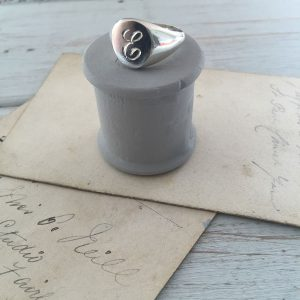 Engraved Initial Signet Ring