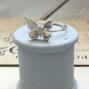 Sterling Silver Baby Butterfly Ring