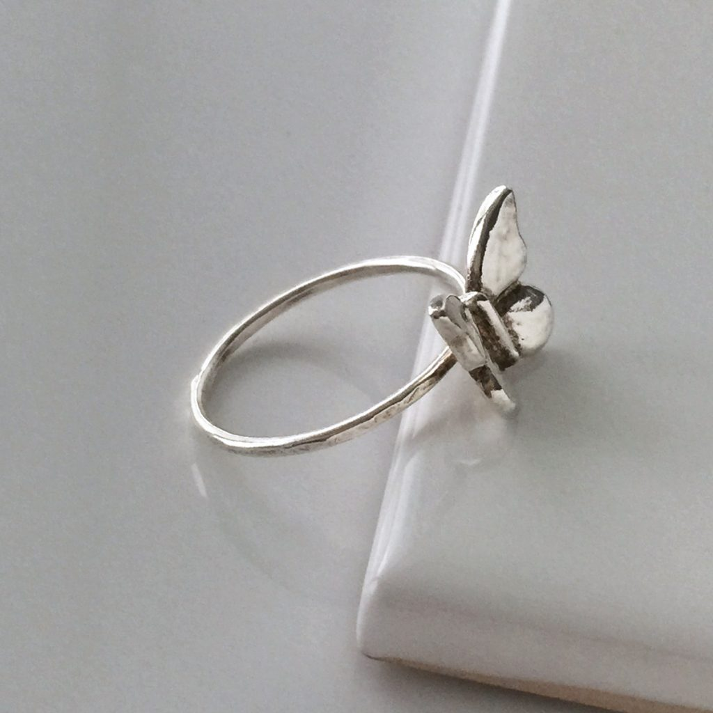 Butterfly Ring In Silver Or Gold Vermeil Bianca Jones British Jewellery