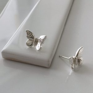 Butterfly Stud Earrings in Sterling Silver